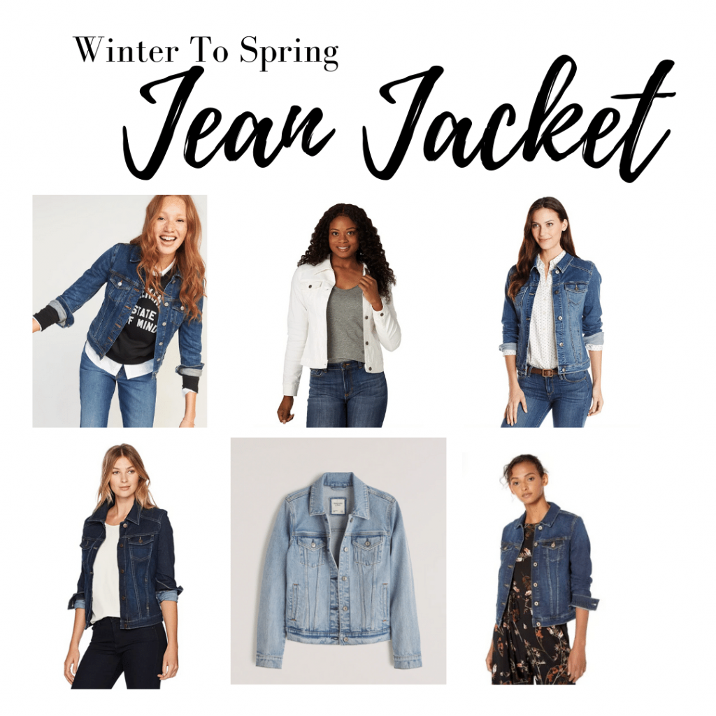 Wear a jean jacket to transition from winter to spring