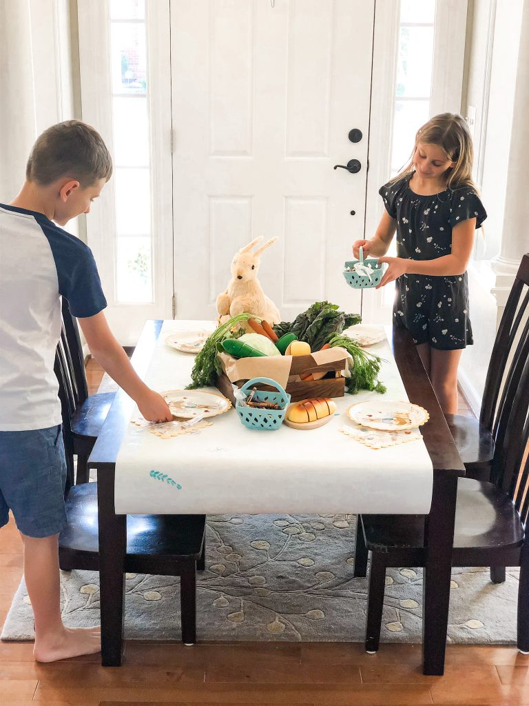Easter Ideas for Kids table decor
