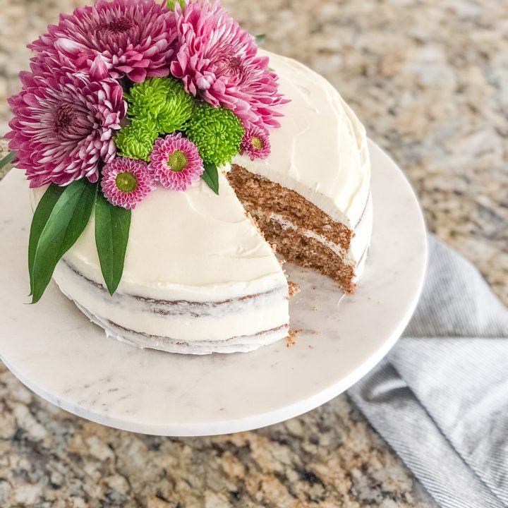 Gluten Free Spice Cake with Cream Cheese Frosting